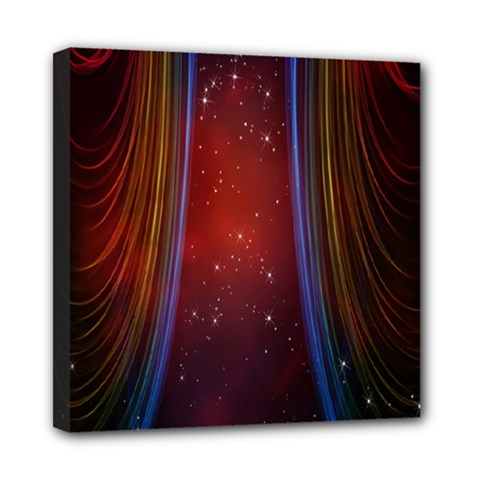 Bright Background With Stars And Air Curtains Mini Canvas 8  x 8