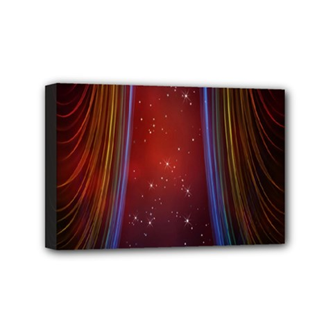 Bright Background With Stars And Air Curtains Mini Canvas 6  x 4