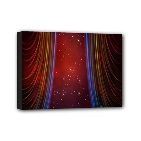 Bright Background With Stars And Air Curtains Mini Canvas 7  X 5