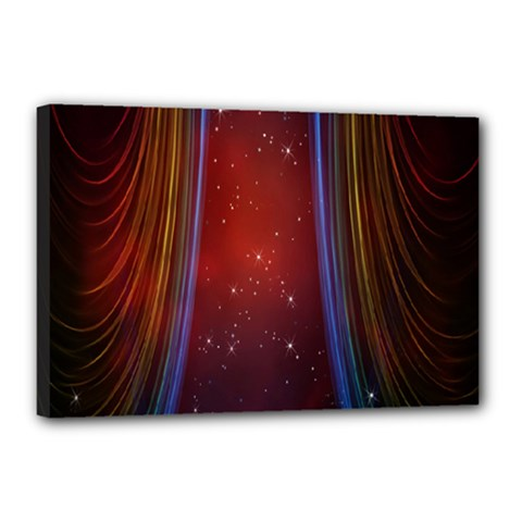 Bright Background With Stars And Air Curtains Canvas 18  X 12