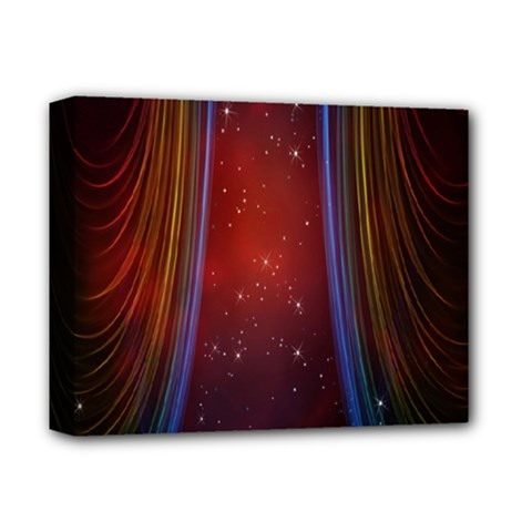 Bright Background With Stars And Air Curtains Deluxe Canvas 14  x 11