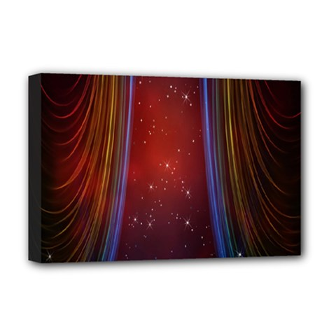 Bright Background With Stars And Air Curtains Deluxe Canvas 18  x 12