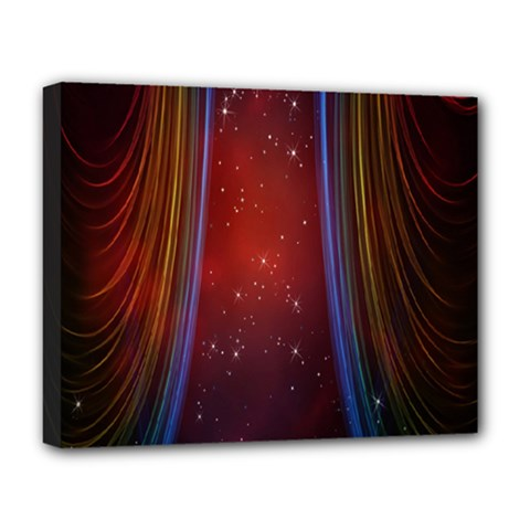 Bright Background With Stars And Air Curtains Deluxe Canvas 20  x 16
