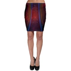 Bright Background With Stars And Air Curtains Bodycon Skirt