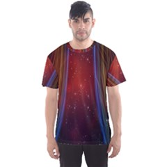 Bright Background With Stars And Air Curtains Men s Sport Mesh Tee