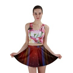 Bright Background With Stars And Air Curtains Mini Skirt