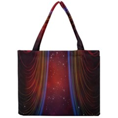 Bright Background With Stars And Air Curtains Mini Tote Bag
