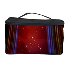 Bright Background With Stars And Air Curtains Cosmetic Storage Case