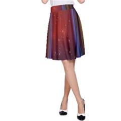 Bright Background With Stars And Air Curtains A Line Skirt
