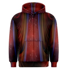 Bright Background With Stars And Air Curtains Men s Zipper Hoodie