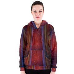 Bright Background With Stars And Air Curtains Women s Zipper Hoodie