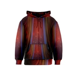 Bright Background With Stars And Air Curtains Kids  Zipper Hoodie