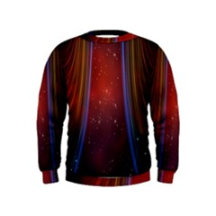 Bright Background With Stars And Air Curtains Kids  Sweatshirt