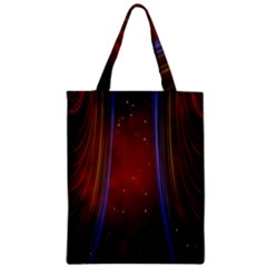 Bright Background With Stars And Air Curtains Zipper Classic Tote Bag
