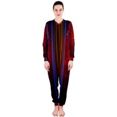 Bright Background With Stars And Air Curtains OnePiece Jumpsuit (Ladies)