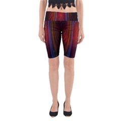 Bright Background With Stars And Air Curtains Yoga Cropped Leggings