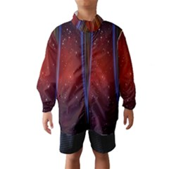 Bright Background With Stars And Air Curtains Wind Breaker (Kids)