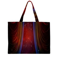 Bright Background With Stars And Air Curtains Large Tote Bag