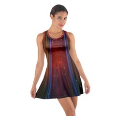 Bright Background With Stars And Air Curtains Cotton Racerback Dress