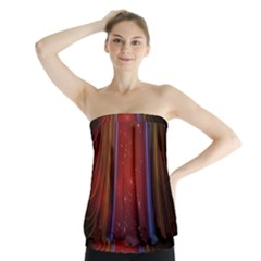 Bright Background With Stars And Air Curtains Strapless Top