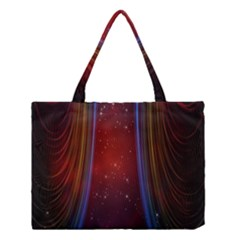 Bright Background With Stars And Air Curtains Medium Tote Bag