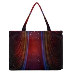 Bright Background With Stars And Air Curtains Medium Zipper Tote Bag