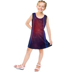 Bright Background With Stars And Air Curtains Kids  Tunic Dress