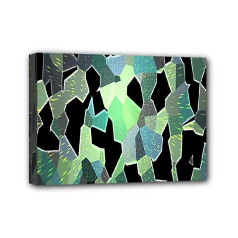 Wallpaper Background With Lighted Pattern Mini Canvas 7  X 5