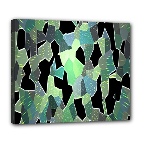 Wallpaper Background With Lighted Pattern Deluxe Canvas 24  X 20