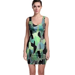Wallpaper Background With Lighted Pattern Sleeveless Bodycon Dress
