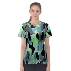Wallpaper Background With Lighted Pattern Women s Sport Mesh Tee