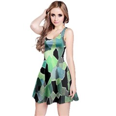 Wallpaper Background With Lighted Pattern Reversible Sleeveless Dress