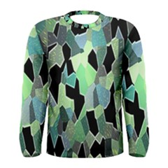 Wallpaper Background With Lighted Pattern Men s Long Sleeve Tee