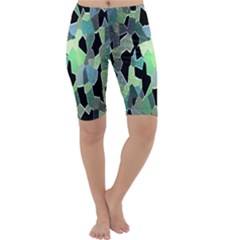 Wallpaper Background With Lighted Pattern Cropped Leggings