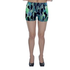 Wallpaper Background With Lighted Pattern Skinny Shorts