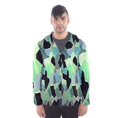 Wallpaper Background With Lighted Pattern Hooded Wind Breaker (men)