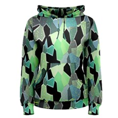 Wallpaper Background With Lighted Pattern Women s Pullover Hoodie
