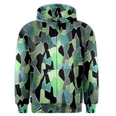 Wallpaper Background With Lighted Pattern Men s Zipper Hoodie