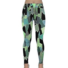 Wallpaper Background With Lighted Pattern Classic Yoga Leggings