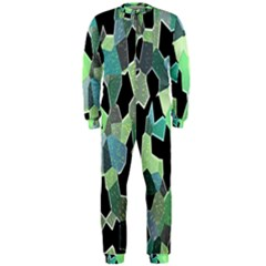 Wallpaper Background With Lighted Pattern OnePiece Jumpsuit (Men)