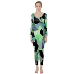Wallpaper Background With Lighted Pattern Long Sleeve Catsuit