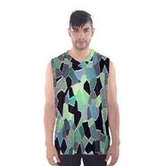 Wallpaper Background With Lighted Pattern Men s Basketball Tank Top