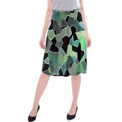 Wallpaper Background With Lighted Pattern Midi Beach Skirt
