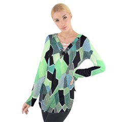 Wallpaper Background With Lighted Pattern Women s Tie Up Tee