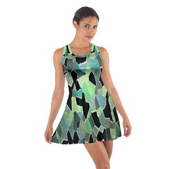 Wallpaper Background With Lighted Pattern Cotton Racerback Dress