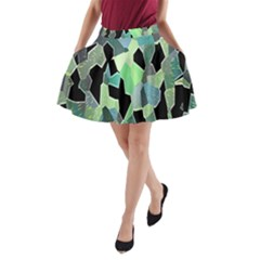 Wallpaper Background With Lighted Pattern A-Line Pocket Skirt