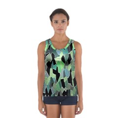 Wallpaper Background With Lighted Pattern Women s Sport Tank Top
