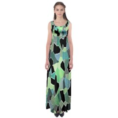 Wallpaper Background With Lighted Pattern Empire Waist Maxi Dress