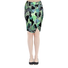 Wallpaper Background With Lighted Pattern Midi Wrap Pencil Skirt