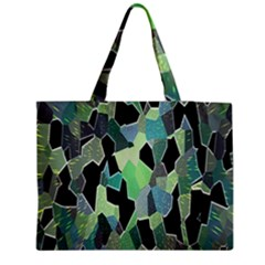 Wallpaper Background With Lighted Pattern Medium Zipper Tote Bag